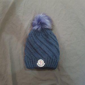 womens moncler hat beanie blue